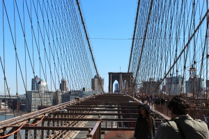 VIEW 2 ON TOP OF BROOKLYN BRIDGE